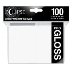 Ultra Pro Glossy Eclipse Standard Sleeves - Arctic White (100ct)