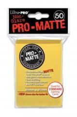 Ultra Pro PRO-Matte Standard Sleeves - Yellow (50ct)