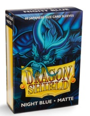 Dragon Shield Matte Small Sleeves - Night Blue (60 ct)