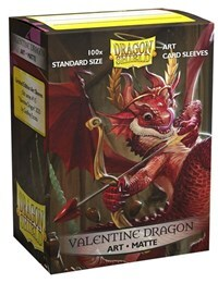 Dragon Shield MATTE Art Standard Sleeves - Valentine Dragon (100ct)