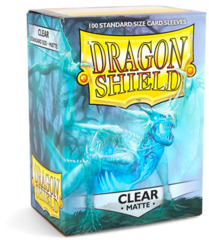 Dragon Shield Matte Standard Sleeves - Clear (100ct)