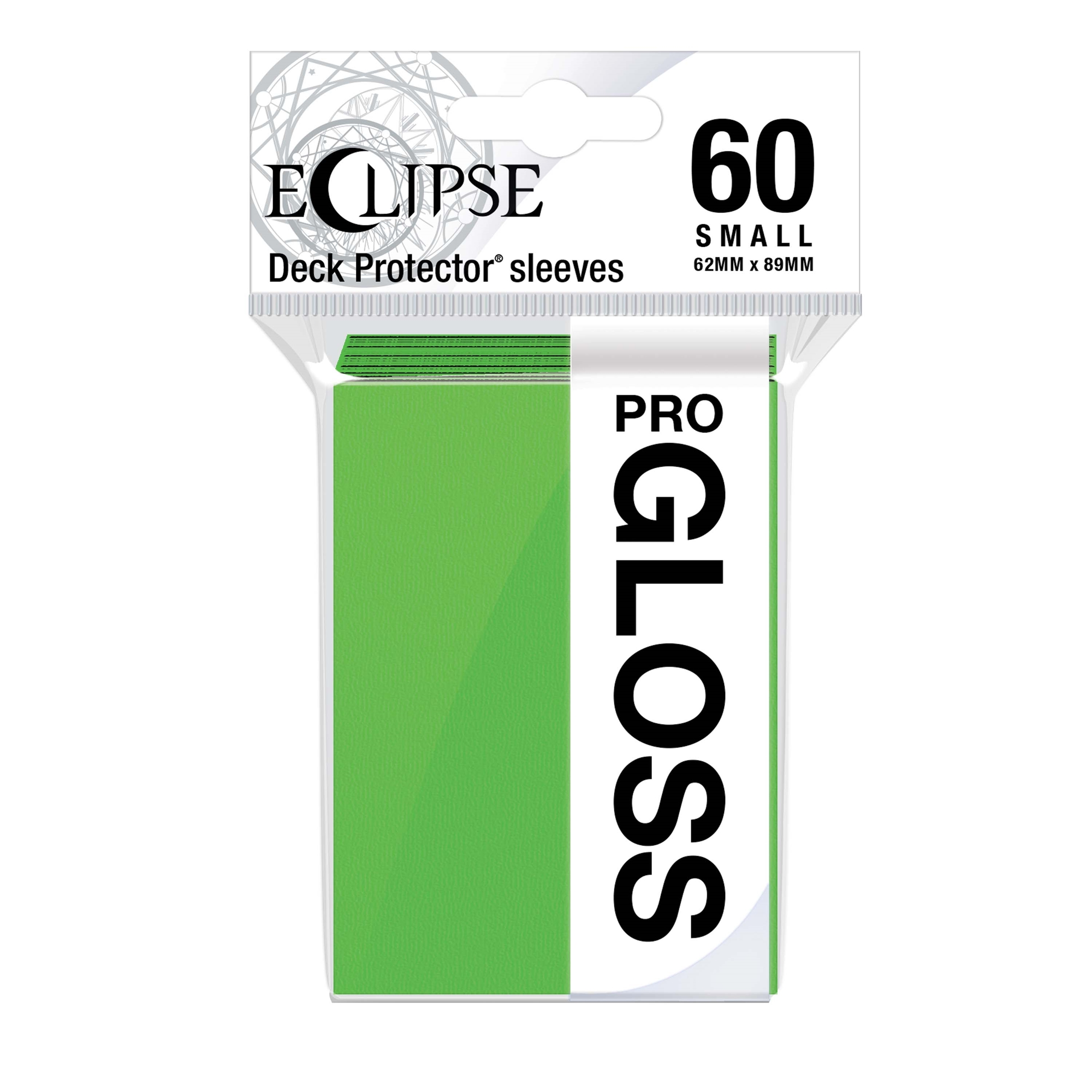 Ultra Pro Glossy Eclipse Small Sleeves - Lime Green (60ct)