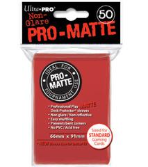 PRO-MATTE Ultra Pro Yu-Gi-Oh Sleeves - Red (60ct)
