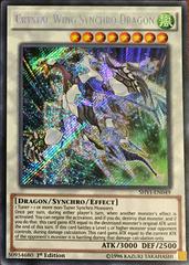 Crystal Wing Synchro Dragon - SHVI-EN049 - Secret Rare - 1st Edition