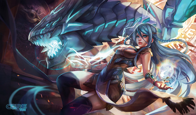 CoreTCG Exclusive Playmat - Maiden and Blue-Eyes Alternative Dragon (2016)