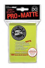 50ct Pro-Matte Bright Yellow Standard Deck Protectors