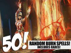 Burn Lot - 50 Random Burn Spells! (Includes Rares!)