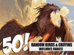 Bird & Griffin Lot - 50 Random Birds/Griffins! (Includes Rares!)