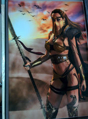 Art Print **Desert Warrior** 13x19 Inches MTG