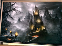 Art Print **Dracula's Castle** 13x19 Inches MTG