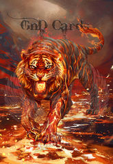 Art Print **Fire Tiger** 13x19 Inches MTG