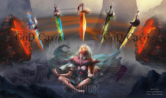 The 5 Swords Playmat