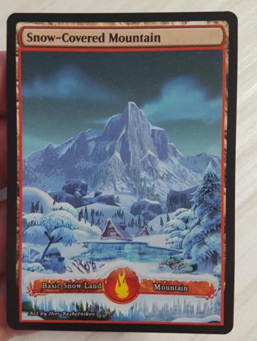 Custom Basic Land non-foil MTG card 1x Altered Art Mountain