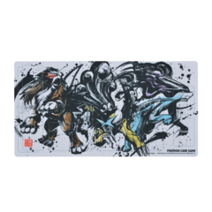 Playmat - Sumi-e Japanese Ink Art - Entei, Raikou, & Suicune