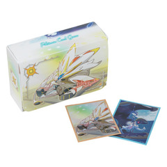Double Deck Box & Sleeves 64ct (x2) Combo - Lillie & Nebby (Cosmog)
