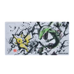 Playmat - Sumi-e Japanese Ink Art - Pikachu & Rayquaza