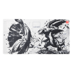 Playmat - Sumi-e Japanese Ink Art - Mega Gallade & Garchomp