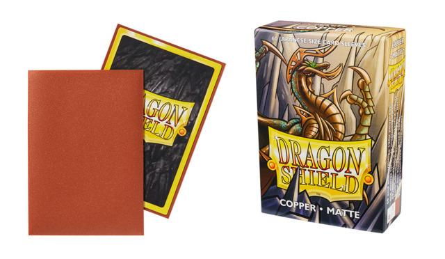 50 ct. Classic Copper Dragon Shield Sleeves: Japanese Yugioh Vanguard YGO