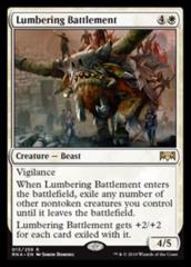 Lumbering Battlement - Prerelease Foil
