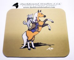 Sir Knight Biscuit Mousepad