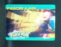 Pikachu & Ash - 4 of 5 - Pokemon the First Movie 3D Card