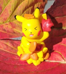 Pikachu Falling Leaves