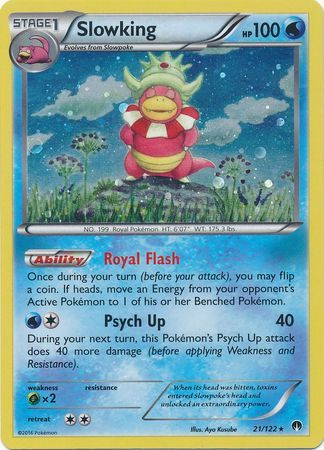 Slowking - 21/122 - Cosmos Holo - Legacy Evolution Pin Collection