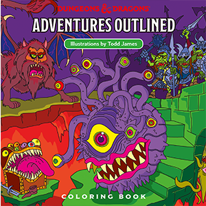 Dungeons & Dragons - Adventures Outlined Coloring Book