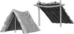 WZK 73858 - Unpainted Miniatures: Tent & Lean-To (2)