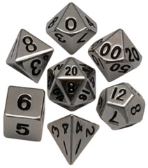 16mm Metal Polyhedral Dice Set - Silver