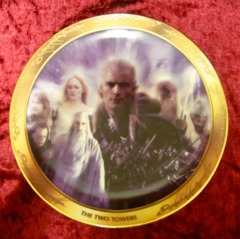 LOTR Two Towers Decorative Art Plate w/ Certificate