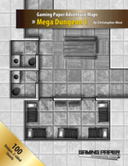 Gaming Paper Adventure Maps: Mega Dungeon 1