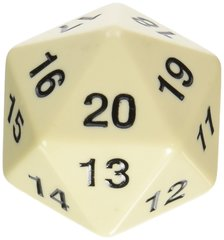 55mm Countdown D20 - Ivory