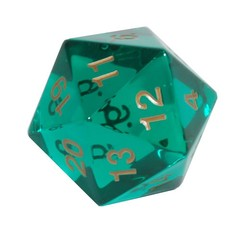55mm D20 Emerald Gold
