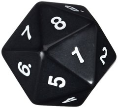 55mm Countdown D20 - Black