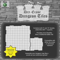 Dry Erase 5 in. & 10 in. Dungeon Tiles - Combo pack of 21