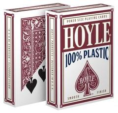 Hoyle 100% Plastic Poker Sized Playing Cards