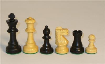 1001BF3 Small Black French Chessmen