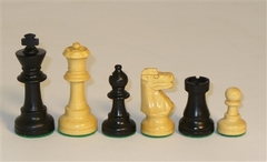 1001BF3 Small Black French Chessmen