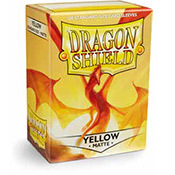 Dragon Shield Box of 100 in Yellow Matte