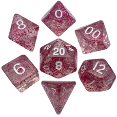 Mini Polyhedral Dice Set - Ethereal Light Purple