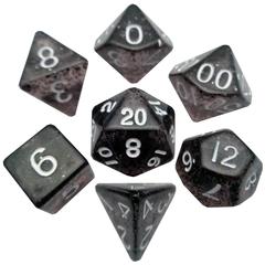 Mini Polyhedral Dice Set - Ethereal Black