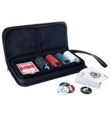 Poker Set with Chips w/ Black Nylon Case