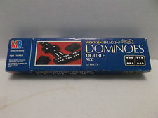 Dominoes Wooden  Double 6 by MB