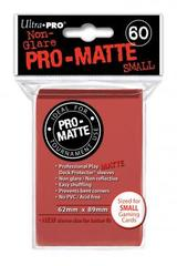 Ultra Pro - Matte Small Sleeves Red 60 Ct.