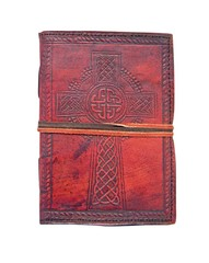 Celtic Cross Leather Embossed Journal 2227