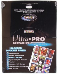 Ultra Pro 100x 9-Pocket Platinum Pages for Standard Cards