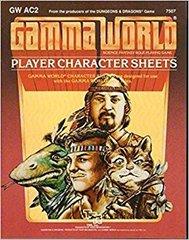 Gamma World RPG Player Character Sheets #7507
