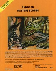 AD&D Dungeon Masters Screen (1979 Version) Vintage TSR #9024
