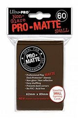 Ultra Pro - Matte Small Sleeves Brown 60 Ct.